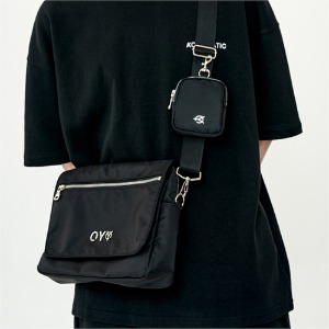 LAYERED CROSS BAG-BLACK