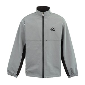 SIDE BLOCK TRACK JACKET-GREY