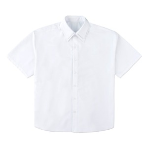 DOUBLE COLLAR HALF SHIRTS-WHITE[5/18 예약배송]