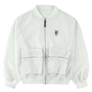 MESH POCKET MA-1 JACKET-WHITE[5/18 예약배송]