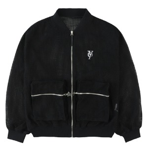 MESH POCKET MA-1 JACKET-BLACK[5/18 예약배송]