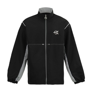 SIDE BLOCK TRACK JACKET-BLACK