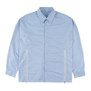 CUTTING ZIPPER SHIRTS-BLUE